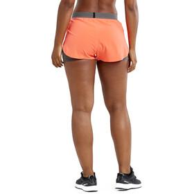 Craft Vent Shorts Carrera 2-en-1 Mujer, naranja/gris